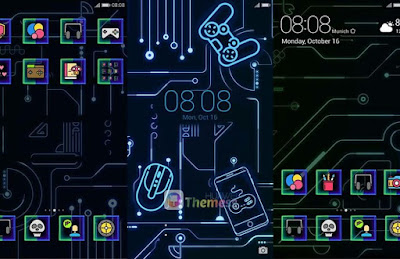 Huawei Theme: Game Dark Theme For Emui 4