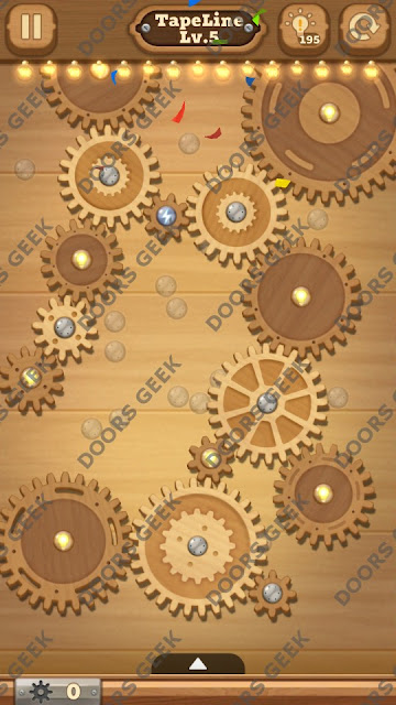 Fix it: Gear Puzzle [TapeLine] Level 5 Solution, Cheats, Walkthrough for Android, iPhone, iPad and iPod