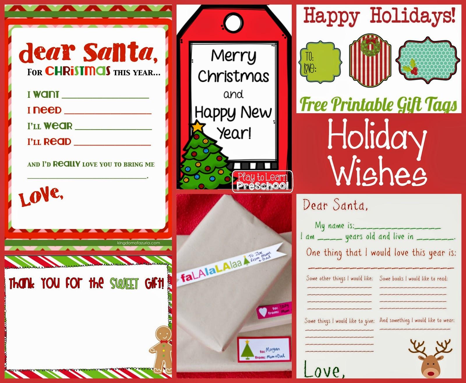 Play To Learn Preschool Free Christmas Printables For Preschoolers