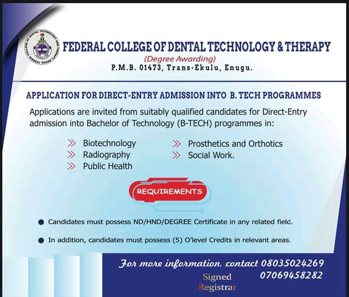 FEDCODTTEN Post-UTME Form 2020/2021 is Out | ND & Degree