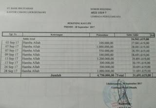 Laporang Keuangan & Foto Dokumen Kegiatan LPD Bulan September 2017