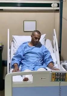 علاء الشربيني بعد إجرائه عملية جراحية