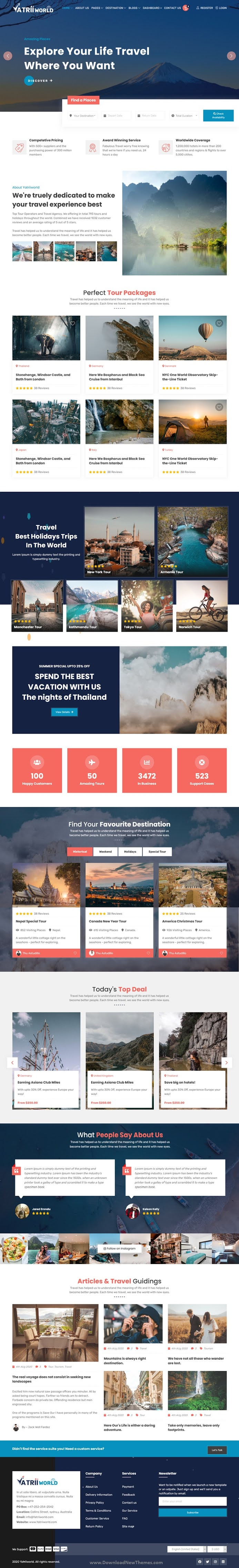 Travel and Tours Booking Template