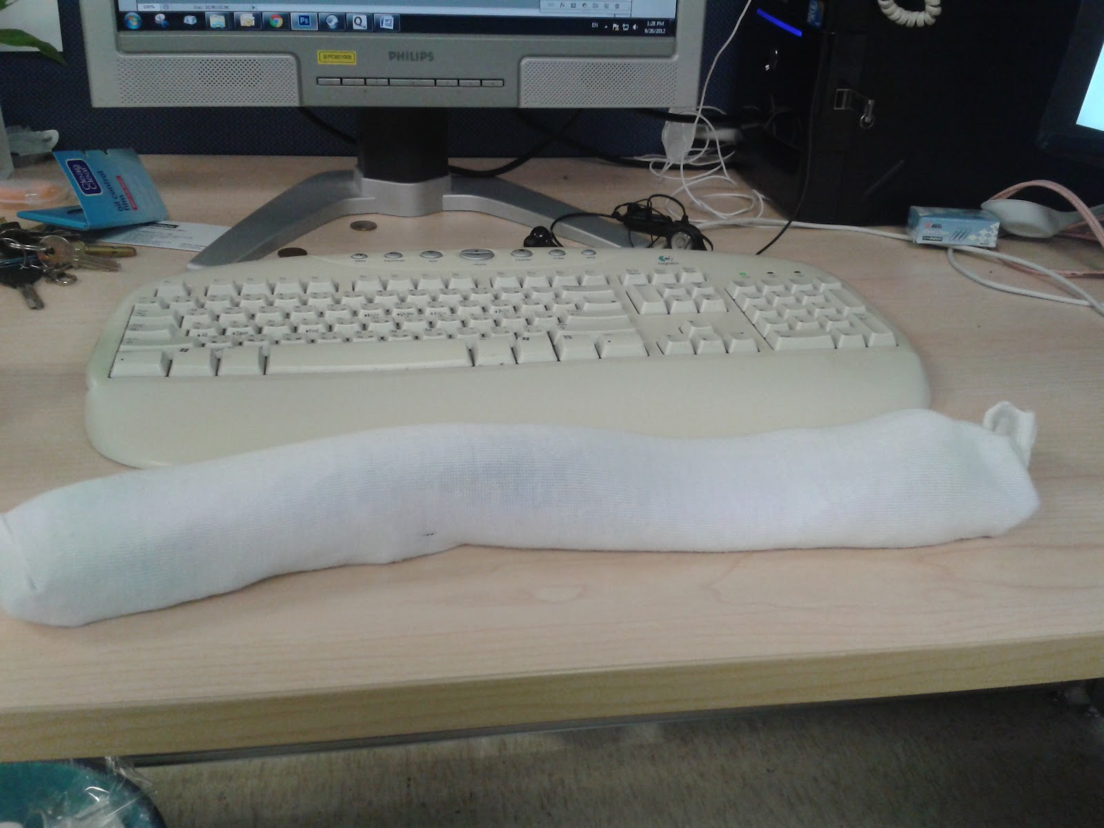 Fun with Words: The man's DIY keyboard wrist rest