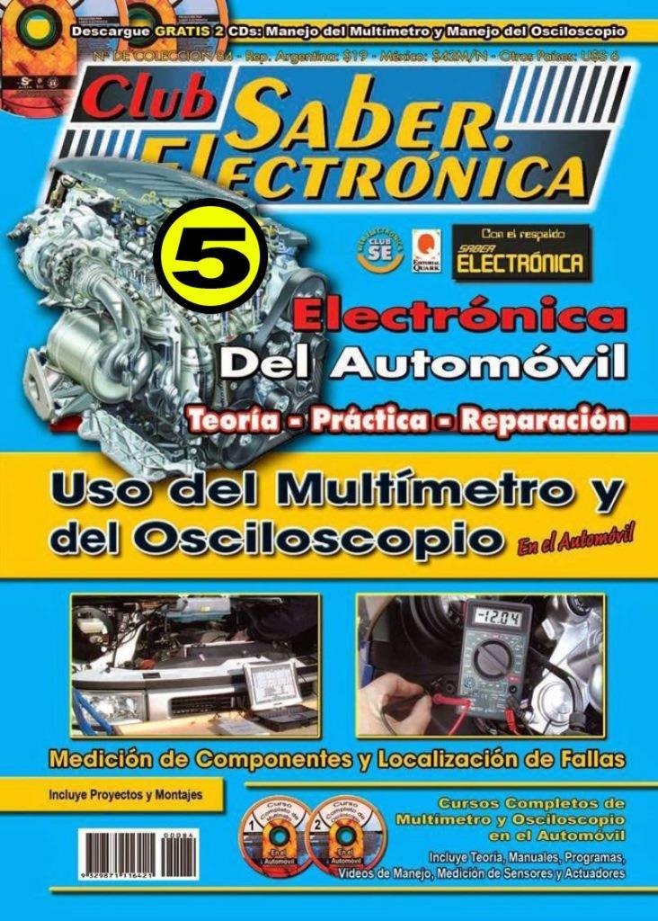 Club Saber Electrónica – 5. Electrónica del Automóvil: Uso del multímetro y del Osciloscopio en el Automóvil