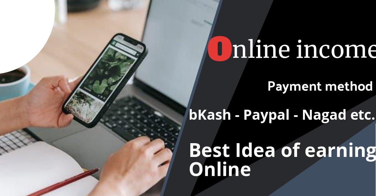 Online income, bd payment bkash