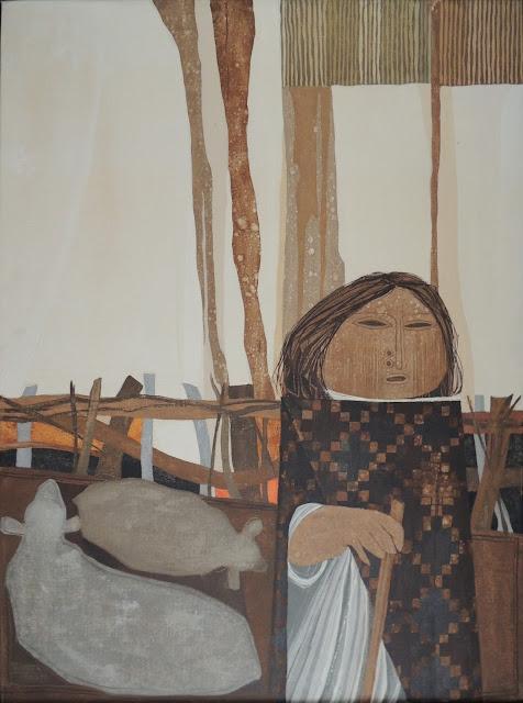 Gil Imaná pintura boliviana tradicional pastora