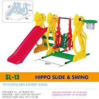 Slide and Swing Ching Ching SL13 Hippo