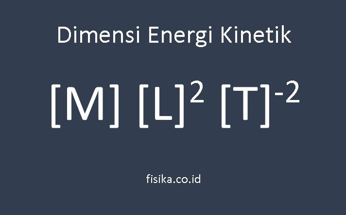 dimensi energi kinetik