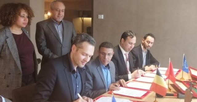 اتفاقية شراكة باللغة الامازيغية، مع جمعية صفا اورو بولجيوم  Euro center  commision europenne   banque européenne d'investisemment