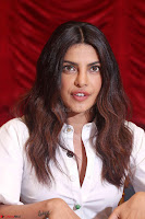 Priyanka Chopra in White Shirt and Colorful Skirt at Baywatch Press Conference  15th May 2017 ~  Exclusive 19.jpg