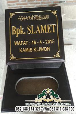 Model Tulisan Nisan Muslim, Gambar Nisan Kuburan Islam, Harga Batu Nisan Granit Hitam