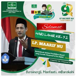 Twibbon harlah LP Maarif Ke-92 Jawa Timur - kanalmu
