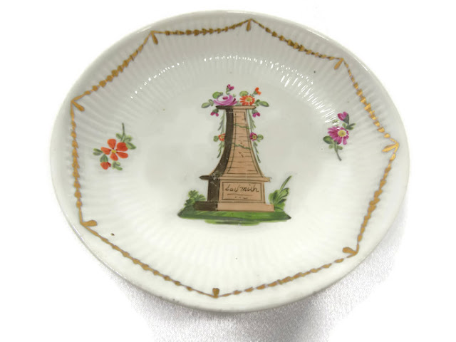 Wallendorf Antique Porcelain Bowl 1787-1833 Germany White-Gold