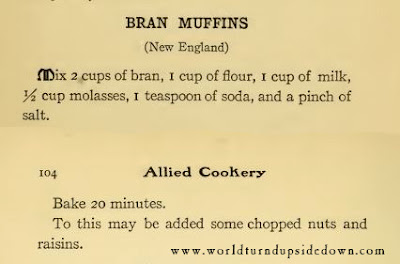 World War 1 Recipes Bran Muffins