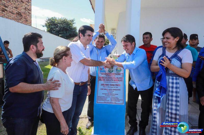 Em visita ao município de Faro, governador Helder fiscaliza obras e anuncia mais infraestrutura