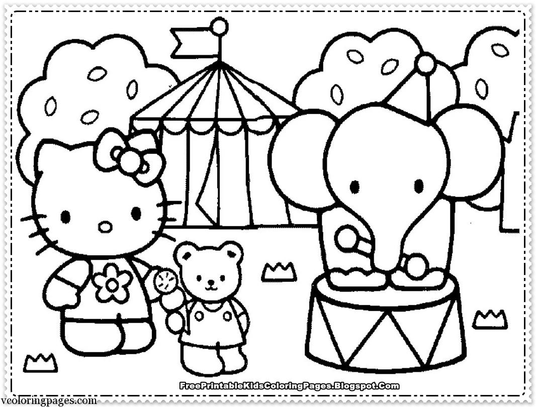 Download Sketsa Gambar Kartun Hello Kitty