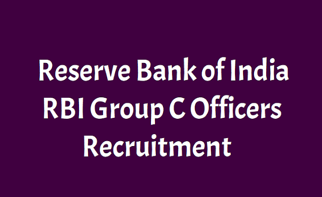 rbi group c officers