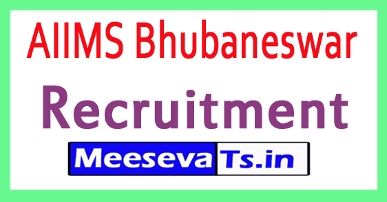 AIIMS Bhubaneswar Recruitment Notification 2017