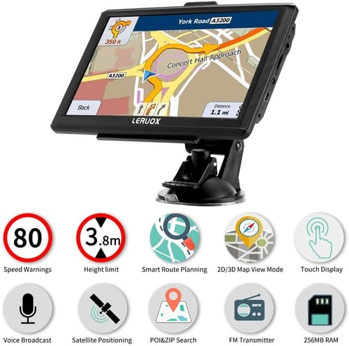 Leruox GPS Navigation for Car Truck GPS