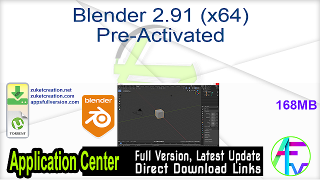 Blender 2.91 (x64) Pre-Activated