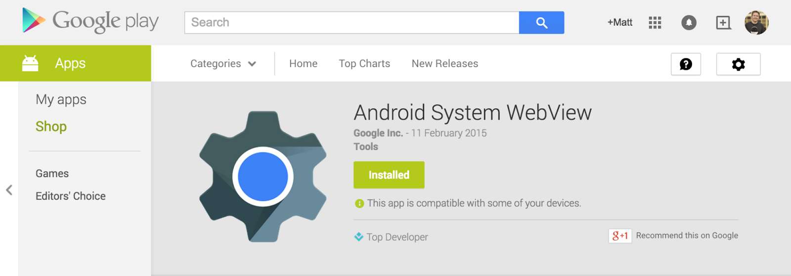 Many android apps use a webview for displaying html content in android 5 0 lollipop google has the ability to update webview independently of the android