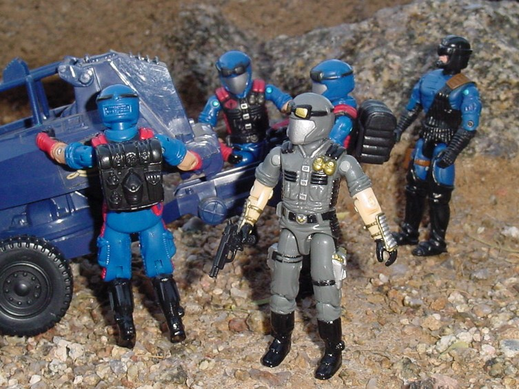 1998 Cobra Officer, TRU Exclusive, 2006 Viper Pit, 1984 ASP, 2004 Flak Viper, Nullifier, Urban Assault
