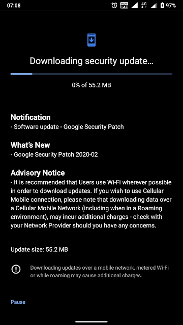 Nokia 6.1 receiving February 2020 Android Security Patch