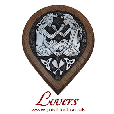 Celtic Lovers Wall Plaque