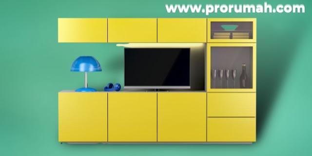 Jenis-jenis Furniture Untuk Hunian Modern - lemari tv ekstra storage