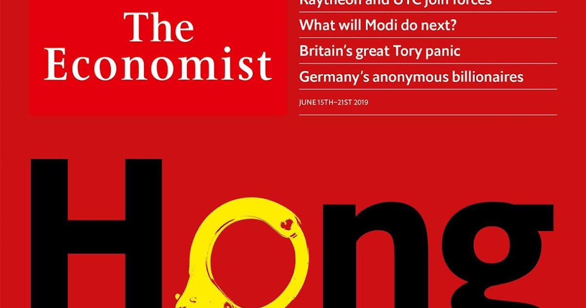 The Economist Depicts a Handcuffed Hong Kong - Isidor's Fugue