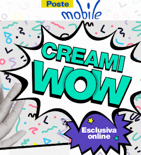 "Poste Mobile: Tariffa ""Creami WOW"" da 3, 5 o 7 GB"