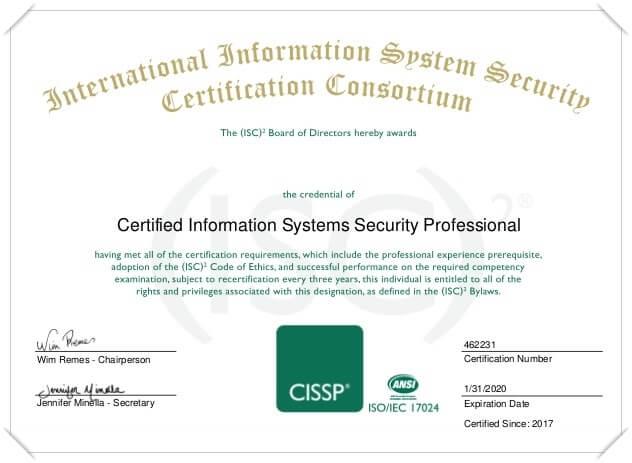 شهادة CISSP
