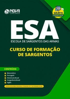 Apostila Concurso ESA 2020 Curso de Formação de Sargentos Grátis Curso Online