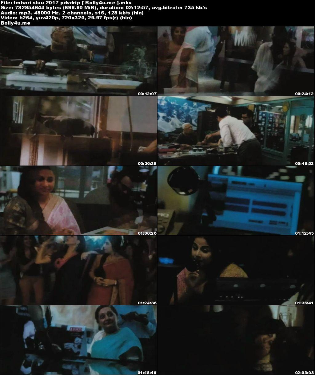 Tumhari Sulu 2017 Pre-DVDRip 350MB Hindi x264 Download