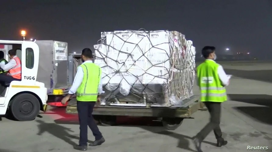 India receives first medical aid from Britain