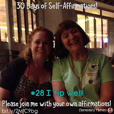 "30 Days of Self-Affirmations: Day 28: I tip well! For 30 days, I will be celebrating my own ""new year"" with self-affirmations. If you are interested in joining me, feel free to write your own affirmations here, or respond on my social media here: http://bit.ly/2JuKRWa Blog post: http://bit.ly/2MiC9bg"