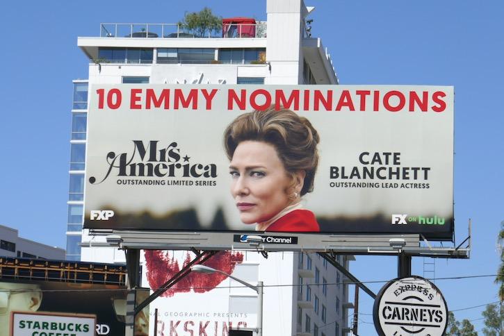 Cate Blanchett Mrs America Emmy nominee billboard