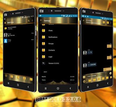 Download BBM MOD Gold Theme v3.2.0.6 APK Versi Terbaru
