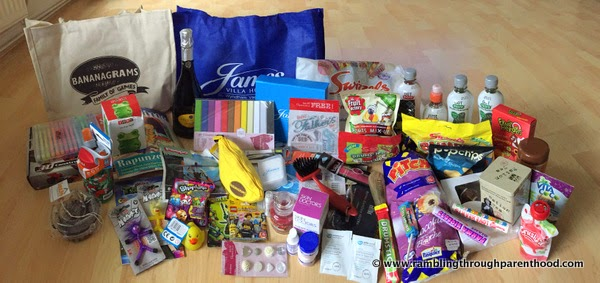 The haul of goodies from Blog On MOSI 2015