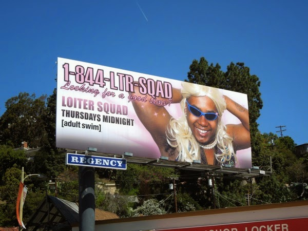 Loiter Squad season 3 Adult Swim billboard