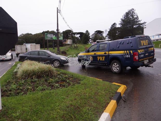 Acidente na BR 280 trevo Piedade em Canoinhas
