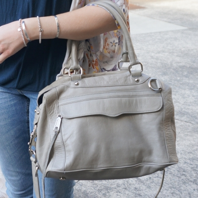 Rebecca Minkoff MAB mini in soft grey | Away From The Blue Blog