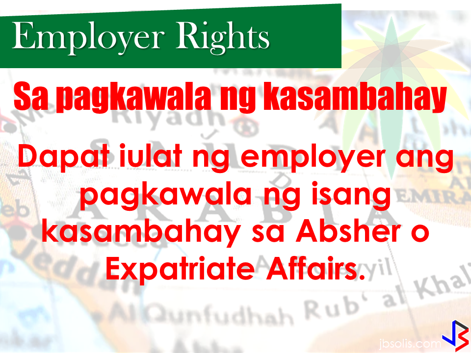 "The Saudi Labor Law does not only favor the rights and welfare of the saudi employer but also the rights of the household service workers (HSWs). In fact, there are also clauses that penalizes abusive employers. If properly implemented, the Saudi labor law could be beneficial to both parties. Let us look further what the law says about the rights of  thousands of domestic workers deployed throughout the Kingdom.  Domestic Labor Rights  1 Daily off-hours  The domestic labor shall be allowed to enjoy a daily rest for at least nine hours a day.  2 Weekly Rest:  The domestic labor may get one day off per week, based on the agreement of the parties in the contract. 3 Medical Care:  Medical Care shall be provided to the domestic labor in accordance with the rules and regulations enforced in the Kingdom. The domestic labor shall be entitled for a paid sick leave not exceeding thirty days per year upon a medical report proving his/her need for the sick leave. Penalties for Violation by the Employer   A fine not exceeding two thousand Riyals, or being prevented from recruiting for one year, or both.  If the violation is repeated, the employer will be punished by a fine of not less than two thousand riyals, and not exceeding five thousand riyals, or prohibited from recruiting for three years, or both.  If the violation is repeated for the third time, the relative committee may prevent the violator from recruitment. The penalty shall multiply by multiplicity of violations proved against the employer.  Employer Obligations  The domestic worker is not allowed to work except for what is described in the contract, or work for others, except in cases of necessity, ensuring the work is not substantially different from his/her original work.  The employer is obliged not to assign the domestic labor any risky work to health or safety of his/her body, or negatively affects his/her dignity. Not to sublet the domestic labor, or allow him/her to work for his/her own account.  The employer is obliged to pay the agreed wage at the end of each Hijri month, unless the parties agree -otherwise- in writing.  The employer is obliged to pay the wage and entitlements in cash or by check, and document it in writing, unless the labor wants to transfer the wage to a specific bank account.  The employer is obliged to provide a suitable housing for the domestic labor. The employer is obliged to allow the domestic labor to enjoy a daily rest for at least nine hours a day.  The employer is obliged to attend himself/herself - or assign a representative - before the Committee on the dates specified to consider the claim filed against him/her.  The wage of the domestic labor may not be deducted except in the following cases and not with more than half the wage:  Costs of what he/she intentionally or negligently damaged. A down payment he/she obtained from the employer. Implementation of a court judgment or an administrative decision issued against him/her, unless it has been stipulated in the court judgment or the administrative decision that the deduction exceeds half the wage.   Employer Rights  1 Contracting  The domestic worker must be provided with a written contract. The Arabic text shall be the prevailing version. The contract and its translation - if any-shall be issued in three copies, with each party retaining a copy and the third one shall be deposited with the Private Recruitment Office.   There should be clear identification of the following main factors: The type of work to be performed by the domestic labor The Wage that the employer shall pay to the domestic labor Rights and obligations of both parties Duration of the probation period Duration of the contract and method of extension.  If the contract expired, or was canceled by the employer for an illegitimate reason, or by the domestic labor for a legitimate reason, the employer shall bear the value of the ticket for repatriation of the domestic labor to his/her country.  The Contract shall expire by the death of the employer or the domestic labor. If the employer's family is willing to keep the domestic labor, they will have to check with the labor office to correct the name of the employer.  2 Upon the absence of the domestic labor:  Employer shall report the absence of a worker through Absher or Expatriate Affairs  3 Probation period  The parties may agree to place the domestic labor on probation for a period not exceeding 90 (ninety) days, during which the employer shall ensure the professional competence of the domestic labor and his proper personal conduct.  It is not permissible to put the domestic labor on probation for more than once with the same employer, unless the parties agree that the domestic labor shall work in a different profession.  The employer may terminate the contract upon his own will during the probation period without any responsibility on him, if the domestic labor is proved to be unfit. Source: Saudi Labor Law  RECOMMENDED: Saudi Crown Prince Launches Amnesty For All Residency And Labor Violators Effective March 29 to June 29,2017 Crown Prince, Deputy Prime Minister and the Minister of Interior,Prince Mohammed bin Naif Al Saud, stated in his speech during ""A Nation Without Violations"" campaign inauguration, that the program focuses on solving the residency and labor law violators status. It will also will also help individuals who wish to solve their violations and avoid sanctions.         The Crown Prince asked for the cooperation of the residents for the goals of the campaign to be met.  He also urged violators to take advantage of the 90 days opportunity which will begin on March 29 up to June 29 this year.   He directed authorities to facilitate the procedures for the  people who will take the initiative  to leave the country within the amnesty period and relieve them from all sanctions. Deputy Crown Prince of Saudi Arabia meeting with US President Donald Trump  Recommended: Why OFWs Remain in Neck-deep Debts After Years Of Working Abroad? From beginning to the end, the real life of OFWs are colorful indeed.  To work outside the country, they invest too much, spend a lot. They start making loans for the processing of their needed documents to work abroad.  From application until they can actually leave the country, they spend big sum of money for it.  But after they were being able to finally work abroad, the story did not just end there. More often than not, the big sum of cash  they used to pay the recruitment agency fees cause them to suffer from indebtedness.  They were being charged and burdened with too much fees, which are not even compliant with the law. Because of their eagerness to work overseas, they immerse themselves to high interest loans for the sake of working abroad. The recruitment agencies play a big role why the OFWs are suffering from neck-deep debts. Even some licensed agencies, they freely exploit the vulnerability of the OFWs. Due to their greed to collect more cash from every OFWs that they deploy, it results to making the life of OFWs more miserable by burying them in debts.  The result of high fees collected by the agencies can even last even the OFWs have been deployed abroad. Some employers deduct it to their salaries for a number of months, leaving the OFWs broke when their much awaited salary comes.  But it doesn't end there. Some of these agencies conspire with their counterpart agencies to urge the foreign employers to cut the salary of the poor OFWs in their favor. That is of course, beyond the expectation of the OFWs.   Even before they leave, the promised salary is already computed and allocated. They have already planned how much they are going to send to their family back home. If the employer would cut the amount of the salary they are expecting to receive, the planned remittance will surely suffer, it includes the loans that they promised to be paid immediately on time when they finally work abroad.  There is such a situation that their family in the Philippines carry the burden of paying for these loans made by the OFW. For example. An OFW father that has found a mistress, which is a fellow OFW, who turned his back  to his family  and to his obligations to pay his loans made for the recruitment fees. The result, the poor family back home, aside from not receiving any remittance, they will be the ones who are obliged to pay the loans made by the OFW, adding weight to the emotional burden they already had aside from their daily needs.      Read: Common Money Mistakes Why Ofws remain Broke After Years Of Working Abroad   Source: Bandera/inquirer.net NATIONAL PORTAL AND NATIONAL BROADBAND PLAN TO  SPEED UP INTERNET SERVICES IN THE PHILIPPINES  NATIONWIDE SMOKING BAN SIGNED BY PRESIDENT DUTERTE   EMIRATES ID CAN NOW BE USED AS HEALTH INSURANCE CARD  TODAY'S NEWS THAT WILL REVIVE YOUR TRUST TO THE PHIL GOVERNMENT  BEWARE OF SCAMMERS!  RELOCATING NAIA  THE HORROR AND TERROR OF BEING A HOUSEMAID IN SAUDI ARABIA  DUTERTE WARNING  NEW BAGGAGE RULES FOR DUBAI AIRPORT    HUGE FISH SIGHTINGS  From beginning to the end, the real life of OFWs are colorful indeed. To work outside the country, they invest too much, spend a lot. They start making loans for the processing of their needed documents to work abroad.  NATIONAL PORTAL AND NATIONAL BROADBAND PLAN TO  SPEED UP INTERNET SERVICES IN THE PHILIPPINES In a Facebook post of Agriculture Secretary Manny Piñol, he said that after a presentation made by Dept. of Information and Communications Technology (DICT) Secretary Rodolfo Salalima, Pres. Duterte emphasized the need for faster communications in the country.Pres. Duterte earlier said he would like the Department of Information and Communications Technology (DICT) ""to develop a national broadband plan to accelerate the deployment of fiber optics cables and wireless technologies to improve internet speed."" As a response to the President's SONA statement, Salalima presented the  DICT's national broadband plan that aims to push for free WiFi access to more areas in the countryside.  Good news to the Filipinos whose business and livelihood rely on good and fast internet connection such as stocks trading and online marketing. President Rodrigo Duterte  has already approved the establishment of  the National Government Portal and a National Broadband Plan during the 13th Cabinet Meeting in Malacañang today. In a facebook post of Agriculture Secretary Manny Piñol, he said that after a presentation made by Dept. of Information and Communications Technology (DICT) Secretary Rodolfo Salalima, Pres. Duterte emphasized the need for faster communications in the country. Pres. Duterte earlier said he would like the Department of Information and Communications Technology (DICT) ""to develop a national broadband plan to accelerate the deployment of fiber optics cables and wireless technologies to improve internet speed."" As a response to the President's SONA statement, Salalima presented the  DICT's national broadband plan that aims to push for free WiFi access to more areas in the countryside.  The broadband program has been in the work since former President Gloria Arroyo but due to allegations of corruption and illegality, Mrs. Arroyo cancelled the US$329 million National Broadband Network (NBN) deal with China's ZTE Corp.just 6 months after she signed it in April 2007.  Fast internet connection benefits not only those who are on internet business and online business but even our over 10 million OFWs around the world and their families in the Philippines. When the era of snail mails, voice tapes and telegram  and the internet age started, communications with their loved one back home can be much easier. But with the Philippines being at #43 on the latest internet speed ranks, something is telling us that improvement has to made.                RECOMMENDED  BEWARE OF SCAMMERS!  RELOCATING NAIA  THE HORROR AND TERROR OF BEING A HOUSEMAID IN SAUDI ARABIA  DUTERTE WARNING  NEW BAGGAGE RULES FOR DUBAI AIRPORT    HUGE FISH SIGHTINGS    NATIONWIDE SMOKING BAN SIGNED BY PRESIDENT DUTERTE In January, Health Secretary Paulyn Ubial said that President Duterte had asked her to draft the executive order similar to what had been implemented in Davao City when he was a mayor, it is the ""100% smoke-free environment in public places.""Today, a text message from Sec. Manny Piñol to ABS-CBN News confirmed that President Duterte will sign an Executive Order to ban smoking in public places as drafted by the Department of Health (DOH). If you know someone who is sick, had an accident  or relatives of an employee who died while on duty, you can help them and their families  by sharing them how to claim their benefits from the government through Employment Compensation Commission.  Here are the steps on claiming the Employee Compensation for private employees.        Step 1. Prepare the following documents:  Certificate of Employment- stating  the actual duties and responsibilities of the employee at the time of his sickness or accident.  EC Log Book- certified true copy of the page containing the particular sickness or accident that happened to the employee.  Medical Findings- should come from  the attending doctor the hospital where the employee was admitted.     Step 2. Gather the additional documents if the employee is;  1. Got sick: Request your company to provide  pre-employment medical check -up or  Fit-To-Work certification at the time that you first got hired . Also attach Medical Records from your company.  2. In case of accident: Provide an Accident report if the accident happened within the company or work premises. Police report if it happened outside the company premises (i.e. employee's residence etc.)  3 In case of Death:  Bring the Death Certificate, Medical Records and accident report of the employee. If married, bring the Marriage Certificate and the Birth Certificate of his children below 21 years of age.      FINAL ENTRY HERE, LINKS OTHERS   Step 3.  Gather all the requirements together and submit it to the nearest SSS office. Wait for the SSS decision,if approved, you will receive a notice and a cheque from the SSS. If denied, ask for a written denial letter from SSS and file a motion for reconsideration and submit it to the SSS Main office. In case that the motion is  not approved, write a letter of appeal and send it to ECC and wait for their decision.      Contact ECC Office at ECC Building, 355 Sen. Gil J. Puyat Ave, Makati, 1209 Metro ManilaPhone:(02) 899 4251 Recommended: NATIONAL PORTAL AND NATIONAL BROADBAND PLAN TO  SPEED UP INTERNET SERVICES IN THE PHILIPPINES In a Facebook post of Agriculture Secretary Manny Piñol, he said that after a presentation made by Dept. of Information and Communications Technology (DICT) Secretary Rodolfo Salalima, Pres. Duterte emphasized the need for faster communications in the country.Pres. Duterte earlier said he would like the Department of Information and Communications Technology (DICT) ""to develop a national broadband plan to accelerate the deployment of fiber optics cables and wireless technologies to improve internet speed."" As a response to the President's SONA statement, Salalima presented the  DICT's national broadband plan that aims to push for free WiFi access to more areas in the countryside.   Read more: http://www.jbsolis.com/2017/03/president-rodrigo-duterte-approved.html#ixzz4bC6eQr5N Good news to the Filipinos whose business and livelihood rely on good and fast internet connection such as stocks trading and online marketing. President Rodrigo Duterte  has already approved the establishment of  the National Government Portal and a National Broadband Plan during the 13th Cabinet Meeting in Malacañang today. In a facebook post of Agriculture Secretary Manny Piñol, he said that after a presentation made by Dept. of Information and Communications Technology (DICT) Secretary Rodolfo Salalima, Pres. Duterte emphasized the need for faster communications in the country. Pres. Duterte earlier said he would like the Department of Information and Communications Technology (DICT) ""to develop a national broadband plan to accelerate the deployment of fiber optics cables and wireless technologies to improve internet speed."" As a response to the President's SONA statement, Salalima presented the  DICT's national broadband plan that aims to push for free WiFi access to more areas in the countryside.  The broadband program has been in the work since former President Gloria Arroyo but due to allegations of corruption and illegality, Mrs. Arroyo cancelled the US$329 million National Broadband Network (NBN) deal with China's ZTE Corp.just 6 months after she signed it in April 2007.  Fast internet connection benefits not only those who are on internet business and online business but even our over 10 million OFWs around the world and their families in the Philippines. When the era of snail mails, voice tapes and telegram  and the internet age started, communications with their loved one back home can be much easier. But with the Philippines being at #43 on the latest internet speed ranks, something is telling us that improvement has to made.                RECOMMENDED  BEWARE OF SCAMMERS!  RELOCATING NAIA  THE HORROR AND TERROR OF BEING A HOUSEMAID IN SAUDI ARABIA  DUTERTE WARNING  NEW BAGGAGE RULES FOR DUBAI AIRPORT    HUGE FISH SIGHTINGS    NATIONWIDE SMOKING BAN SIGNED BY PRESIDENT DUTERTE In January, Health Secretary Paulyn Ubial said that President Duterte had asked her to draft the executive order similar to what had been implemented in Davao City when he was a mayor, it is the ""100% smoke-free environment in public places.""Today, a text message from Sec. Manny Piñol to ABS-CBN News confirmed that President Duterte will sign an Executive Order to ban smoking in public places as drafted by the Department of Health (DOH).  Read more: http://www.jbsolis.com/2017/03/executive-order-for-nationwide-smoking.html#ixzz4bC77ijSR   EMIRATES ID CAN NOW BE USED AS HEALTH INSURANCE CARD  TODAY'S NEWS THAT WILL REVIVE YOUR TRUST TO THE PHIL GOVERNMENT  BEWARE OF SCAMMERS!  RELOCATING NAIA  THE HORROR AND TERROR OF BEING A HOUSEMAID IN SAUDI ARABIA  DUTERTE WARNING  NEW BAGGAGE RULES FOR DUBAI AIRPORT    HUGE FISH SIGHTINGS    How to File Employment Compensation for Private Workers If you know someone who is sick, had an accident  or relatives of an employee who died while on duty, you can help them and their families  by sharing them how to claim their benefits from the government through Employment Compensation Commission. If you know someone who is sick, had an accident  or relatives of an employee who died while on duty, you can help them and their families  by sharing them how to claim their benefits from the government through Employment Compensation Commission.  Here are the steps on claiming the Employee Compensation for private employees.        Step 1. Prepare the following documents:  Certificate of Employment- stating  the actual duties and responsibilities of the employee at the time of his sickness or accident.  EC Log Book- certified true copy of the page containing the particular sickness or accident that happened to the employee.  Medical Findings- should come from  the attending doctor the hospital where the employee was admitted.     Step 2. Gather the additional documents if the employee is;  1. Got sick: Request your company to provide  pre-employment medical check -up or  Fit-To-Work certification at the time that you first got hired . Also attach Medical Records from your company.  2. In case of accident: Provide an Accident report if the accident happened within the company or work premises. Police report if it happened outside the company premises (i.e. employee's residence etc.)  3 In case of Death:  Bring the Death Certificate, Medical Records and accident report of the employee. If married, bring the Marriage Certificate and the Birth Certificate of his children below 21 years of age.      FINAL ENTRY HERE, LINKS OTHERS   Step 3.  Gather all the requirements together and submit it to the nearest SSS office. Wait for the SSS decision,if approved, you will receive a notice and a cheque from the SSS. If denied, ask for a written denial letter from SSS and file a motion for reconsideration and submit it to the SSS Main office. In case that the motion is  not approved, write a letter of appeal and send it to ECC and wait for their decision.      Contact ECC Office at ECC Building, 355 Sen. Gil J. Puyat Ave, Makati, 1209 Metro ManilaPhone:(02) 899 4251 Recommended: NATIONAL PORTAL AND NATIONAL BROADBAND PLAN TO  SPEED UP INTERNET SERVICES IN THE PHILIPPINES In a Facebook post of Agriculture Secretary Manny Piñol, he said that after a presentation made by Dept. of Information and Communications Technology (DICT) Secretary Rodolfo Salalima, Pres. Duterte emphasized the need for faster communications in the country.Pres. Duterte earlier said he would like the Department of Information and Communications Technology (DICT) ""to develop a national broadband plan to accelerate the deployment of fiber optics cables and wireless technologies to improve internet speed."" As a response to the President's SONA statement, Salalima presented the  DICT's national broadband plan that aims to push for free WiFi access to more areas in the countryside.   Read more: http://www.jbsolis.com/2017/03/president-rodrigo-duterte-approved.html#ixzz4bC6eQr5N Good news to the Filipinos whose business and livelihood rely on good and fast internet connection such as stocks trading and online marketing. President Rodrigo Duterte  has already approved the establishment of  the National Government Portal and a National Broadband Plan during the 13th Cabinet Meeting in Malacañang today. In a facebook post of Agriculture Secretary Manny Piñol, he said that after a presentation made by Dept. of Information and Communications Technology (DICT) Secretary Rodolfo Salalima, Pres. Duterte emphasized the need for faster communications in the country. Pres. Duterte earlier said he would like the Department of Information and Communications Technology (DICT) ""to develop a national broadband plan to accelerate the deployment of fiber optics cables and wireless technologies to improve internet speed."" As a response to the President's SONA statement, Salalima presented the  DICT's national broadband plan that aims to push for free WiFi access to more areas in the countryside.  The broadband program has been in the work since former President Gloria Arroyo but due to allegations of corruption and illegality, Mrs. Arroyo cancelled the US$329 million National Broadband Network (NBN) deal with China's ZTE Corp.just 6 months after she signed it in April 2007.  Fast internet connection benefits not only those who are on internet business and online business but even our over 10 million OFWs around the world and their families in the Philippines. When the era of snail mails, voice tapes and telegram  and the internet age started, communications with their loved one back home can be much easier. But with the Philippines being at #43 on the latest internet speed ranks, something is telling us that improvement has to made.                RECOMMENDED  BEWARE OF SCAMMERS!  RELOCATING NAIA  THE HORROR AND TERROR OF BEING A HOUSEMAID IN SAUDI ARABIA  DUTERTE WARNING  NEW BAGGAGE RULES FOR DUBAI AIRPORT    HUGE FISH SIGHTINGS    NATIONWIDE SMOKING BAN SIGNED BY PRESIDENT DUTERTE In January, Health Secretary Paulyn Ubial said that President Duterte had asked her to draft the executive order similar to what had been implemented in Davao City when he was a mayor, it is the ""100% smoke-free environment in public places.""Today, a text message from Sec. Manny Piñol to ABS-CBN News confirmed that President Duterte will sign an Executive Order to ban smoking in public places as drafted by the Department of Health (DOH).  Read more: http://www.jbsolis.com/2017/03/executive-order-for-nationwide-smoking.html#ixzz4bC77ijSR   EMIRATES ID CAN NOW BE USED AS HEALTH INSURANCE CARD  TODAY'S NEWS THAT WILL REVIVE YOUR TRUST TO THE PHIL GOVERNMENT  BEWARE OF SCAMMERS!  RELOCATING NAIA  THE HORROR AND TERROR OF BEING A HOUSEMAID IN SAUDI ARABIA  DUTERTE WARNING  NEW BAGGAGE RULES FOR DUBAI AIRPORT    HUGE FISH SIGHTINGS   Requirements and Fees for Reduced Travel Tax for OFW Dependents What is a travel tax? According to TIEZA ( Tourism Infrastructure and Enterprise Zone Authority), it is a levy imposed by the Philippine government on individuals who are leaving the Philippines, as provided for by Presidential Decree (PD) 1183.   A full travel tax for first class passenger is PhP2,700.00 and PhP1,620.00 for economy class. For an average Filipino like me, it's quite pricey. Overseas Filipino Workers, diplomats and airline crew members are exempted from paying travel tax before but now, travel tax for OFWs are included in their air ticket prize and can be refunded later at the refund counter at NAIA.  However, OFW dependents can apply for  standard reduced travel tax. Children or Minors from 2 years and one (1) day to 12th birthday on date of travel.  Accredited Filipino journalist whose travel is in pursuit of journalistic assignment and   those authorized by the President of the Republic of the Philippines for reasons of national interest, are also entitled to avail the reduced travel tax. If you will travel anywhere in the world from the Philippines, you must be aware about the travel tax that you need to settle before your flight.  What is a travel tax? According to TIEZA ( Tourism Infrastructure and Enterprise Zone Authority), it is a levy imposed by the Philippine government on individuals who are leaving the Philippines, as provided for by Presidential Decree (PD) 1183.   A full travel tax for first class passenger is PhP2,700.00 and PhP1,620.00 for economy class. For an average Filipino like me, it's quite pricey. Overseas Filipino Workers, diplomats and airline crew members are exempted from paying travel tax before but now, travel tax for OFWs are included in their air ticket prize and can be refunded later at the refund counter at NAIA.  However, OFW dependents can apply for  standard reduced travel tax. Children or Minors from 2 years and one (1) day to 12th birthday on date of travel.  Accredited Filipino journalist whose travel is in pursuit of journalistic assignment and   those authorized by the President of the Republic of the Philippines for reasons of national interest, are also entitled to avail the reduced travel tax.           For privileged reduce travel tax, the legitimate spouse and unmarried children (below 21 years old) of the OFWs are qualified to avail.   How much can you save if you avail of the reduced travel tax?  A full travel tax for first class passenger is PhP2,700.00 and PhP1,620.00 for economy class. Paying it in full can be costly. With the reduced travel tax policy, your travel tax has been cut roughly by 50 percent for the standard reduced rate and further lower  for the privileged reduce rate.  How much is the Reduced Travel Tax?  First Class Economy Standard Reduced Rate P1,350.00 P810.00 Privileged Reduced Rate    P400.00 P300.00  Image from TIEZA ©2017 THOUGHTSKOTO     ©2017 THOUGHTSKOTO www.jbsolis.com SEARCH JBSOLIS"