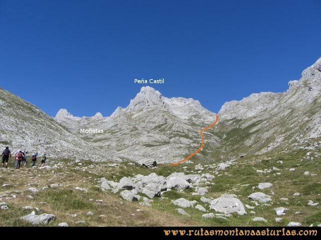 Ruta Peña Castil y Cueva del Hielo: Moñetas, Peña Castil y la canal de Fresnedal