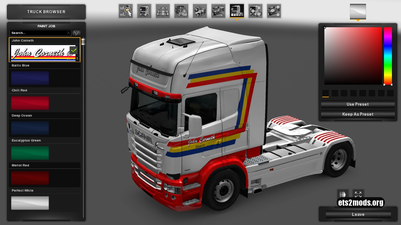 John Corneth Int.Transport Skin for Scania RJL