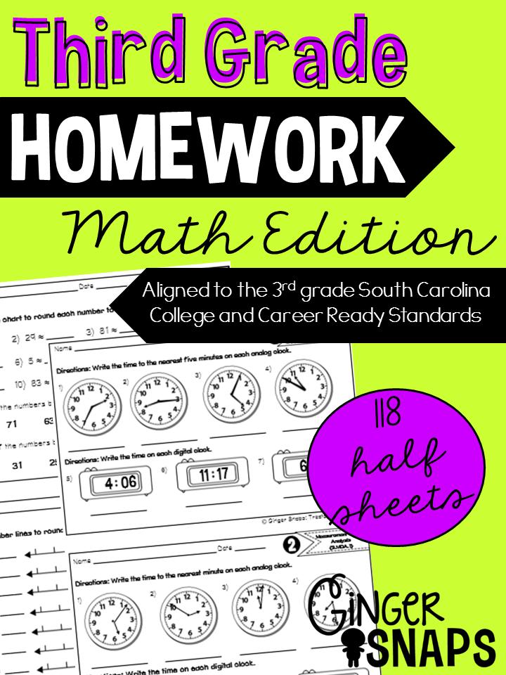 maths homework year 3