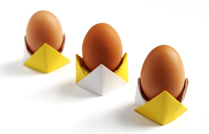 Kağıt Katlama İle Basit Yumurtalık Yapımı