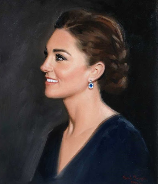 British artist Hazel Morgan of Salisbury has painted a new portrait of The Duchess of Cambridge