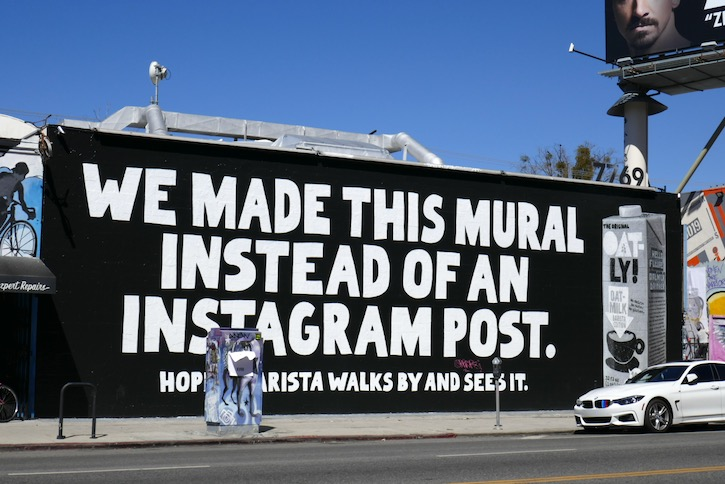 mural instead of an instagram post Oatly milk
